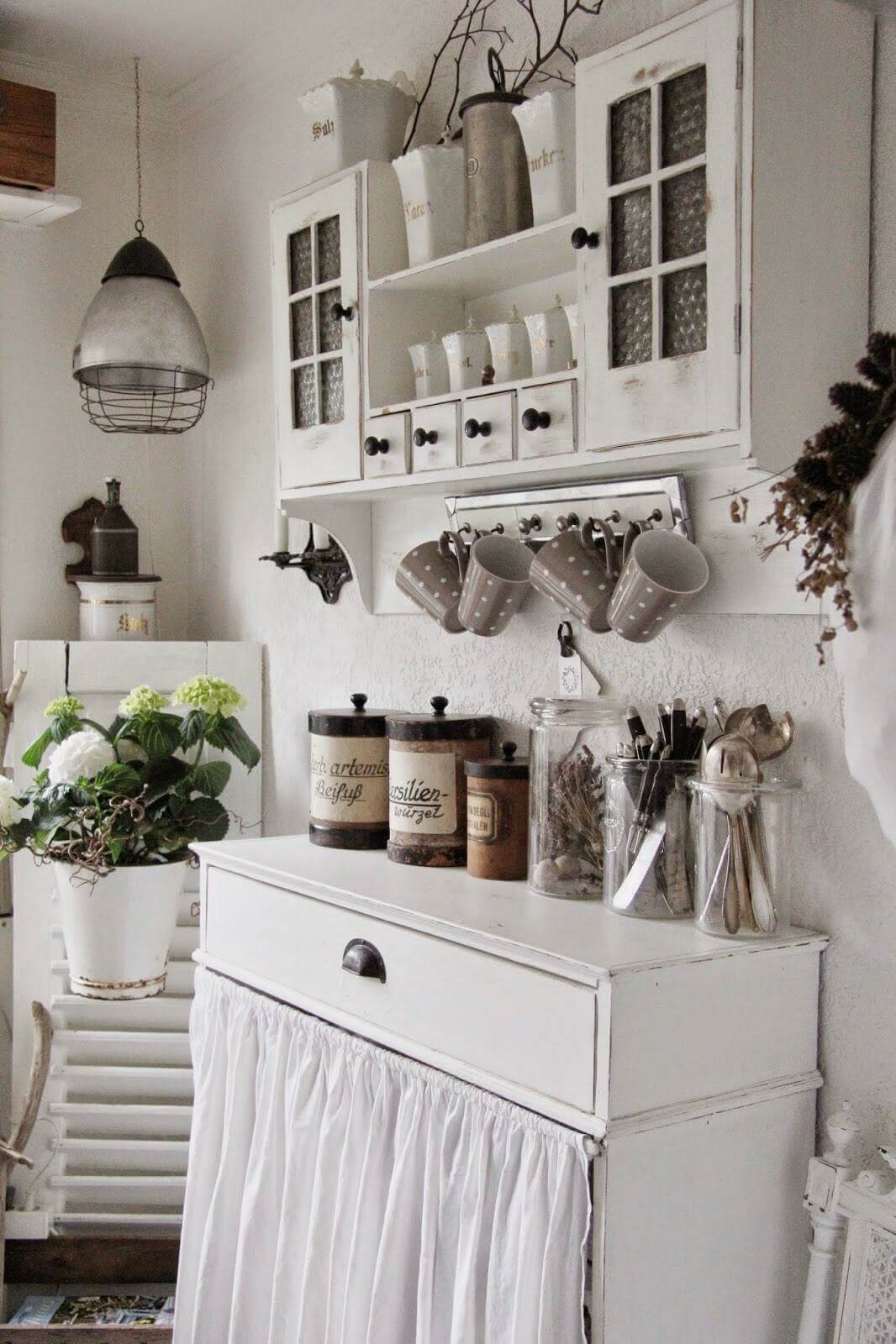 29 best shabby chic kitchen decor ideas and designs for 2019 - Decoracion vintage cocina ...