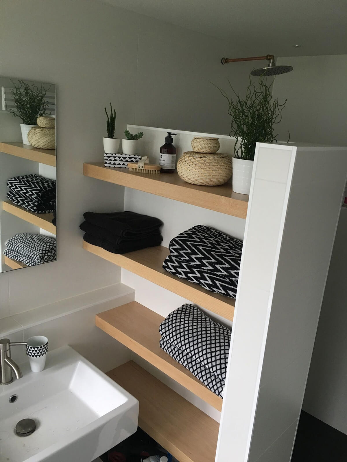 25 best built-in bathroom shelf and storage ideas for 2020