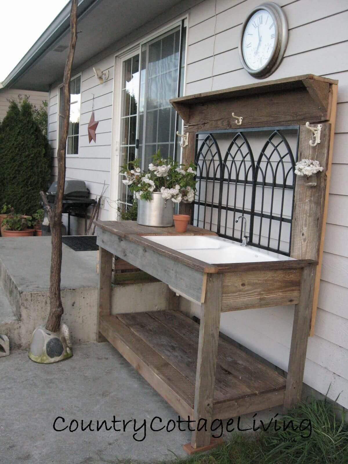 Architectural Salvage Potting Bench Idea