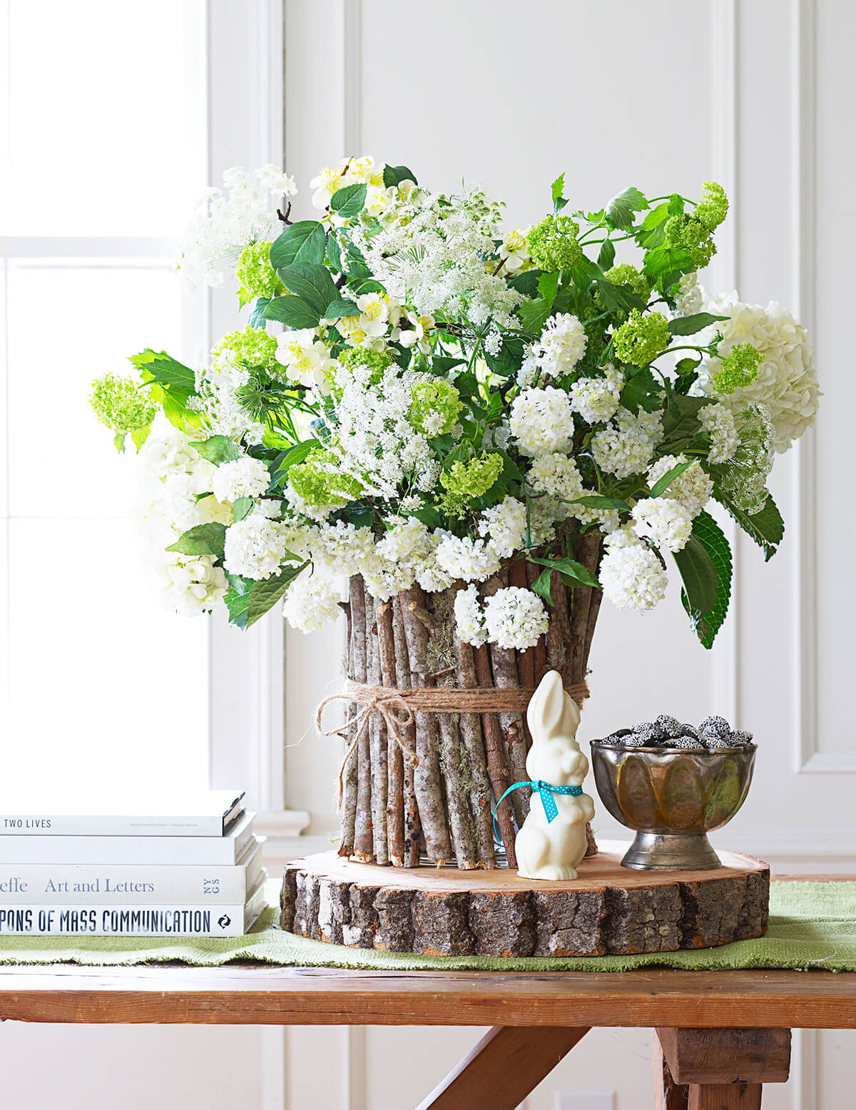 Spring Centerpiece Ideas with Twigs and Twine