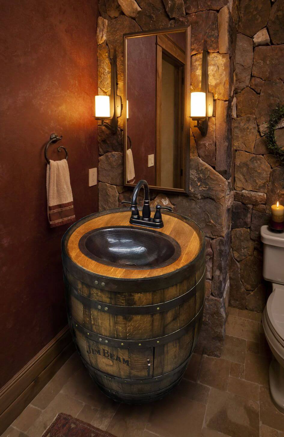 Ultra-Rustic Round Barrel Sink