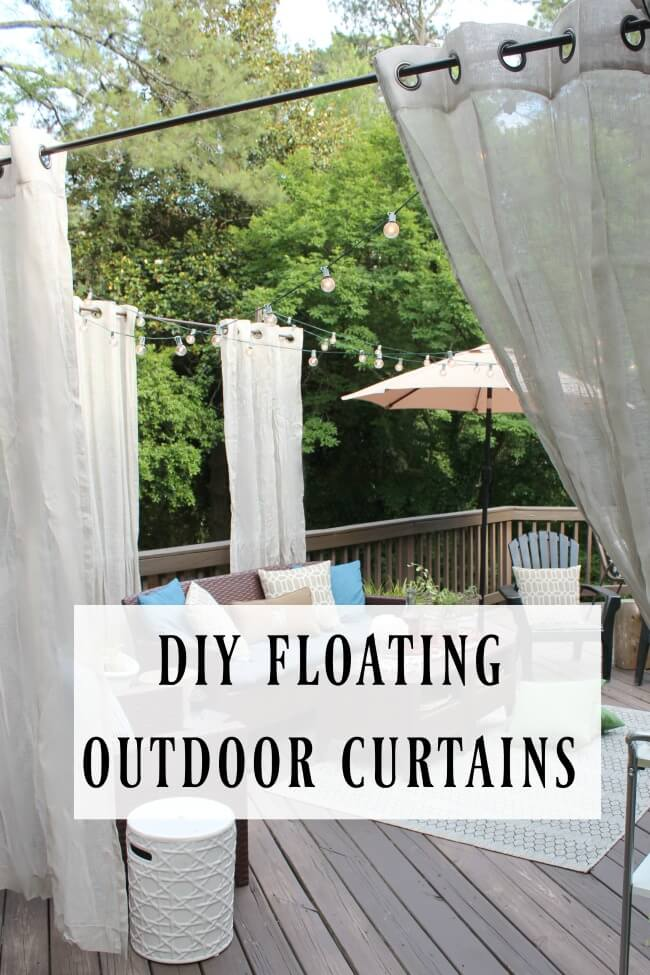 Instant Ambiance with Floating Patio Curtains