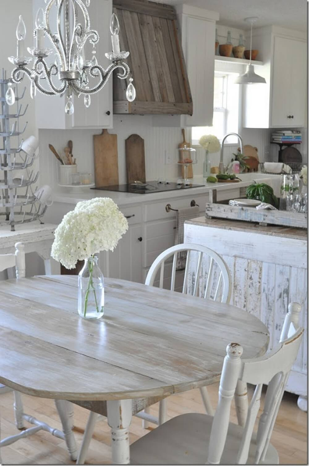 29 best shabby chic kitchen decor ideas and designs for 2019. Black Bedroom Furniture Sets. Home Design Ideas
