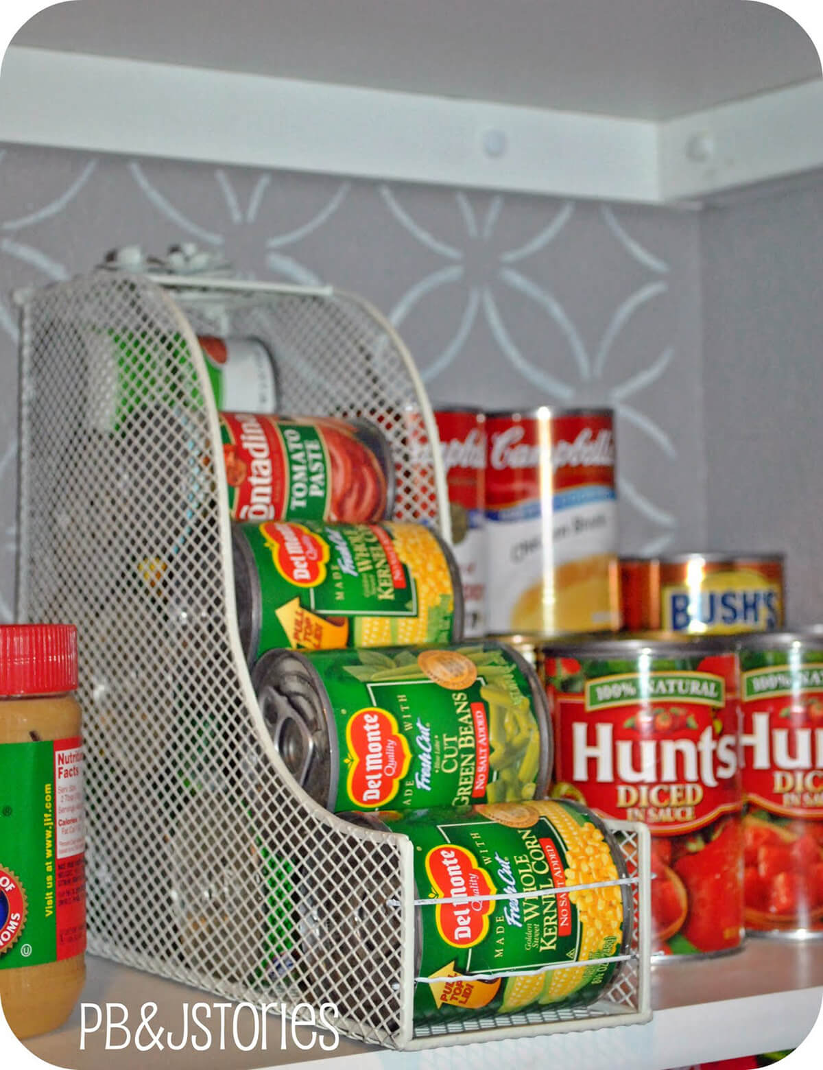 Pantry Organization Ideas with Rolling Cans