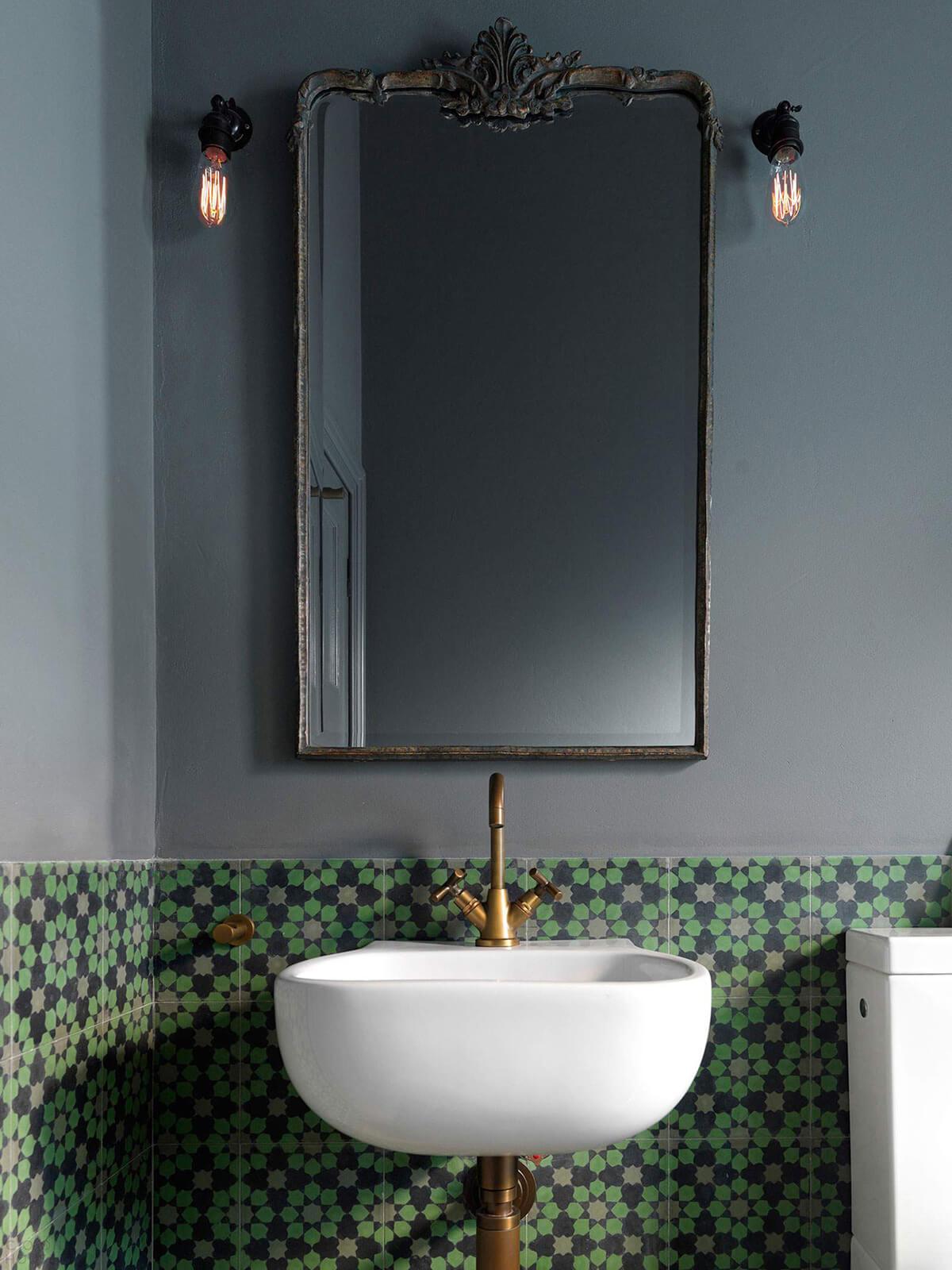 Modern Raised Sink with Feature Backsplash
