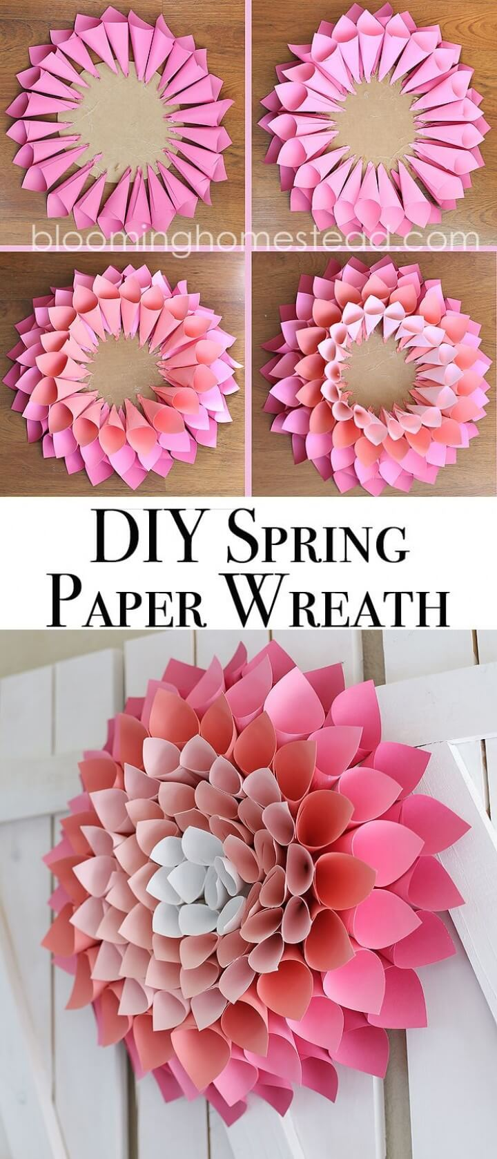 Simple Paper Cones Make a DIY Dahlia