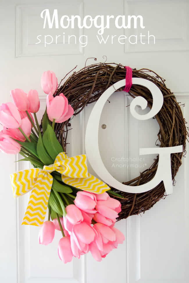 Quick and Simple Monogram Wreath