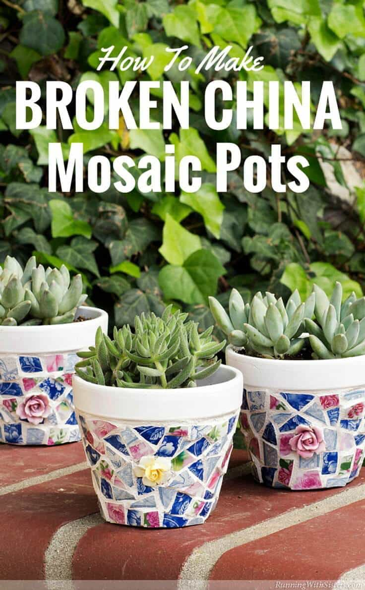 Shabby Chic China Shard Mosaics