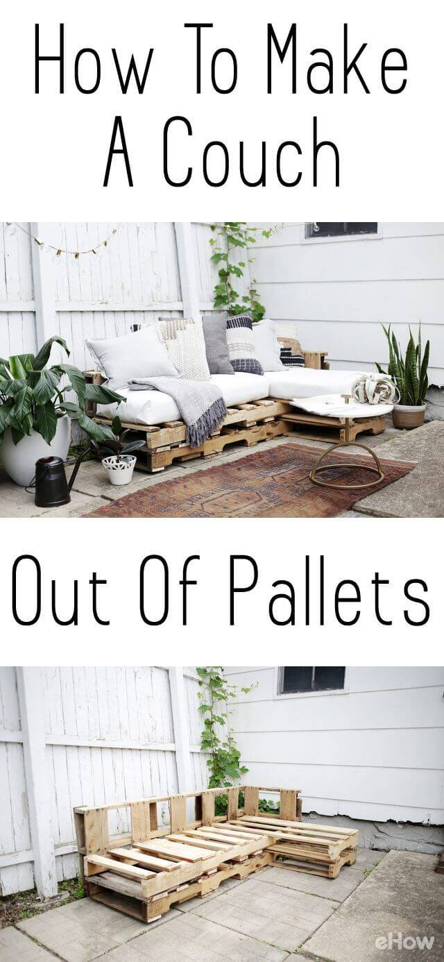 One-Picture Plans for a Pallet Couch