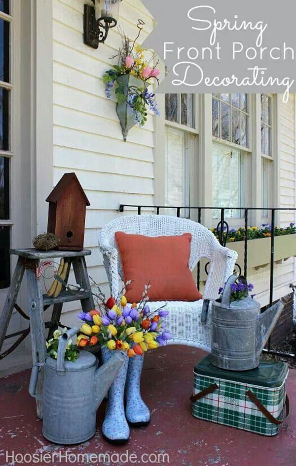 30 Best Rustic Spring Porch Decor Ideas And Designs For 2020