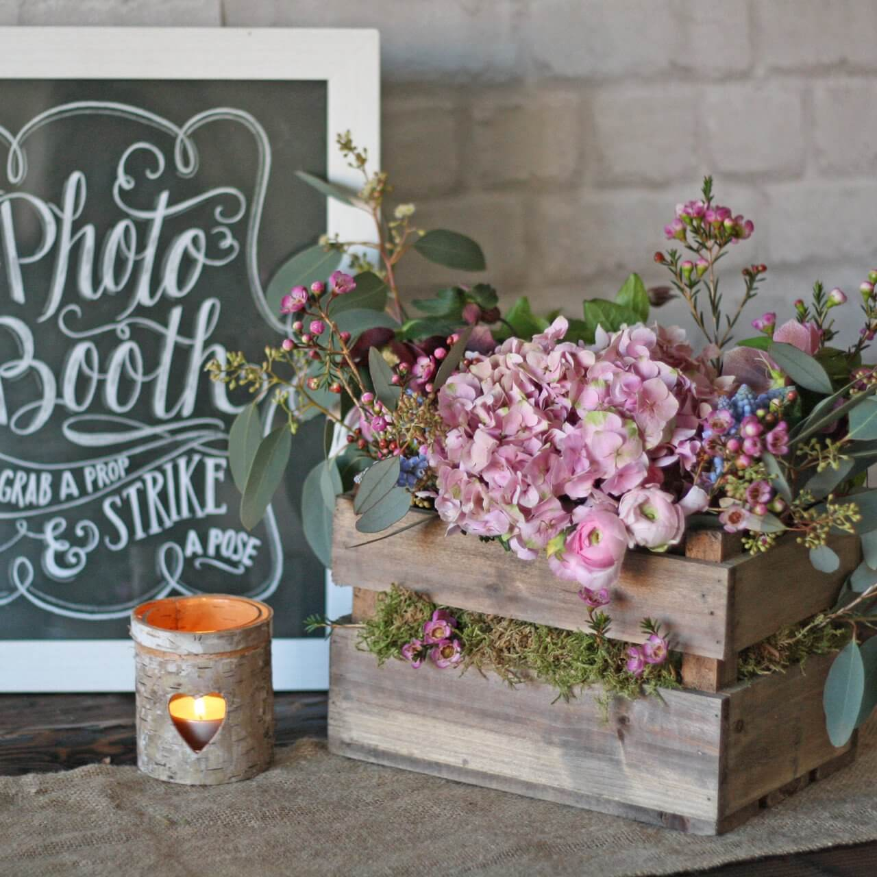 Muted Color Blossoms in a Vintage Box