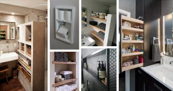 Built-in Bathroom Shelves