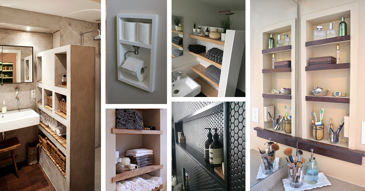 25 Brilliant Built In Bathroom Shelf And Storage Ideas To Keep You Organized With Style