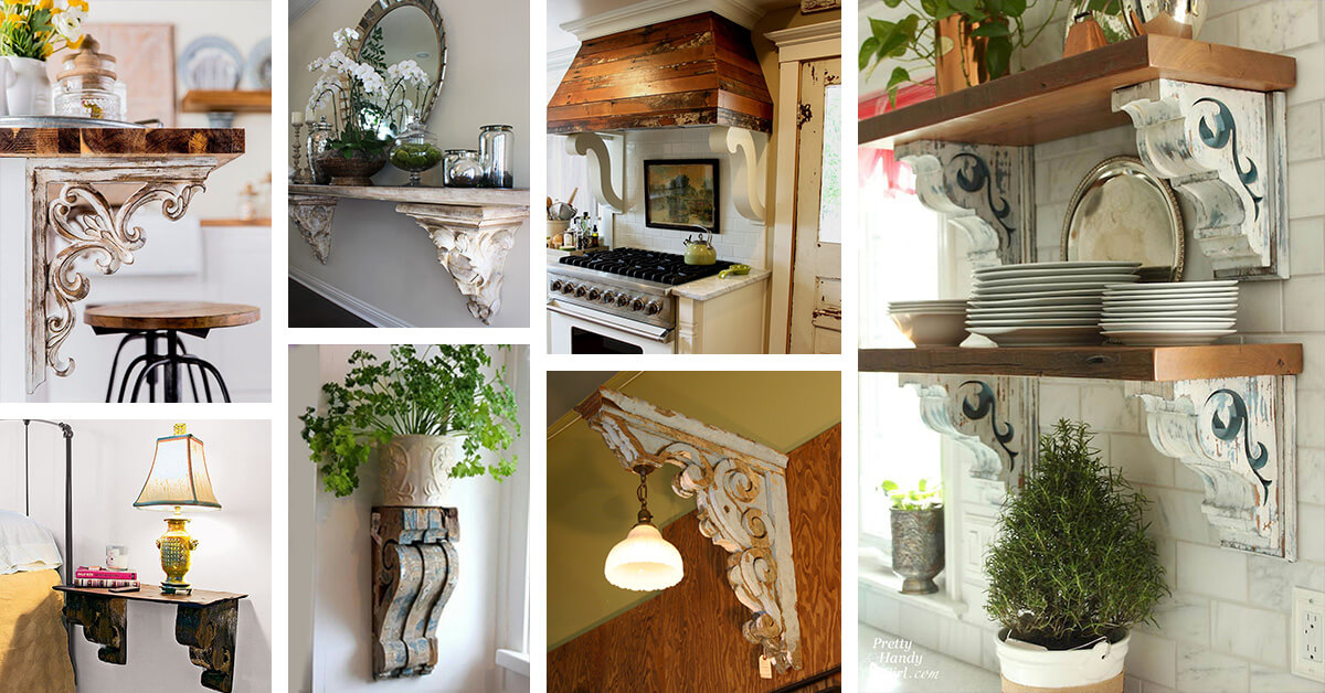 37 Creative Ideas For Decorating With Rustic Corbels