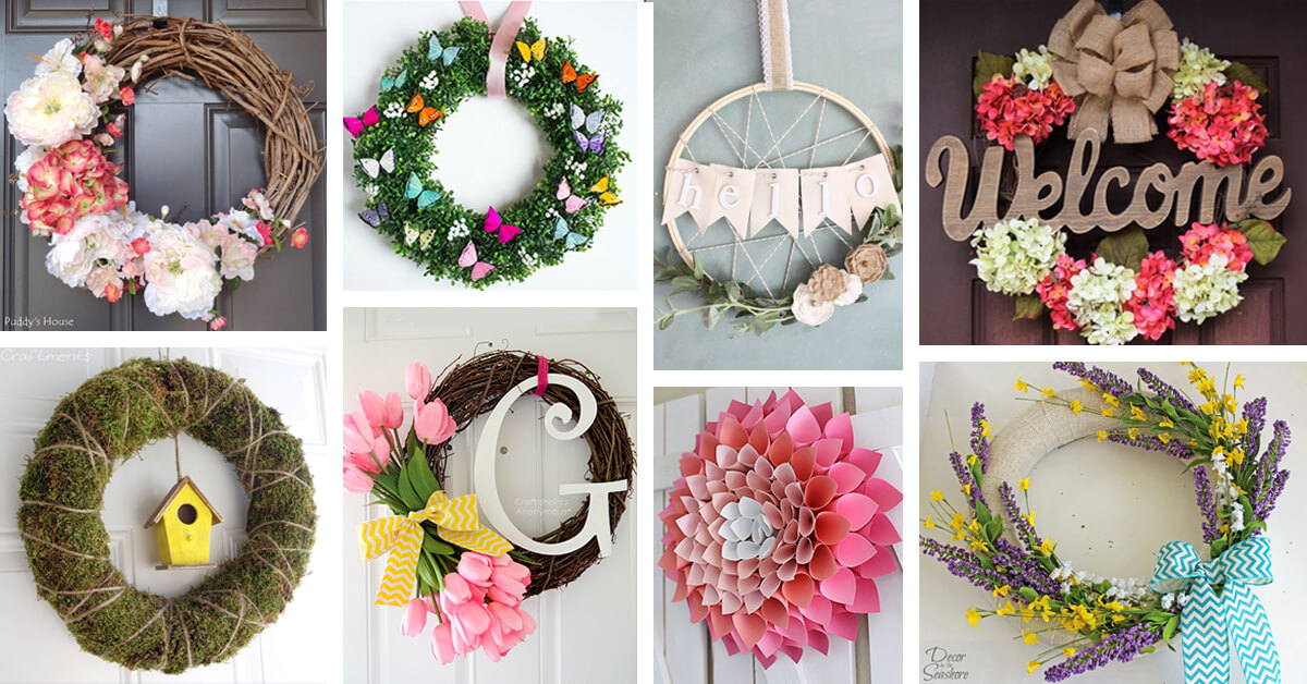 27 Fresh and Easy DIY Spring Wreath Ideas to Welcome the Season with Style
