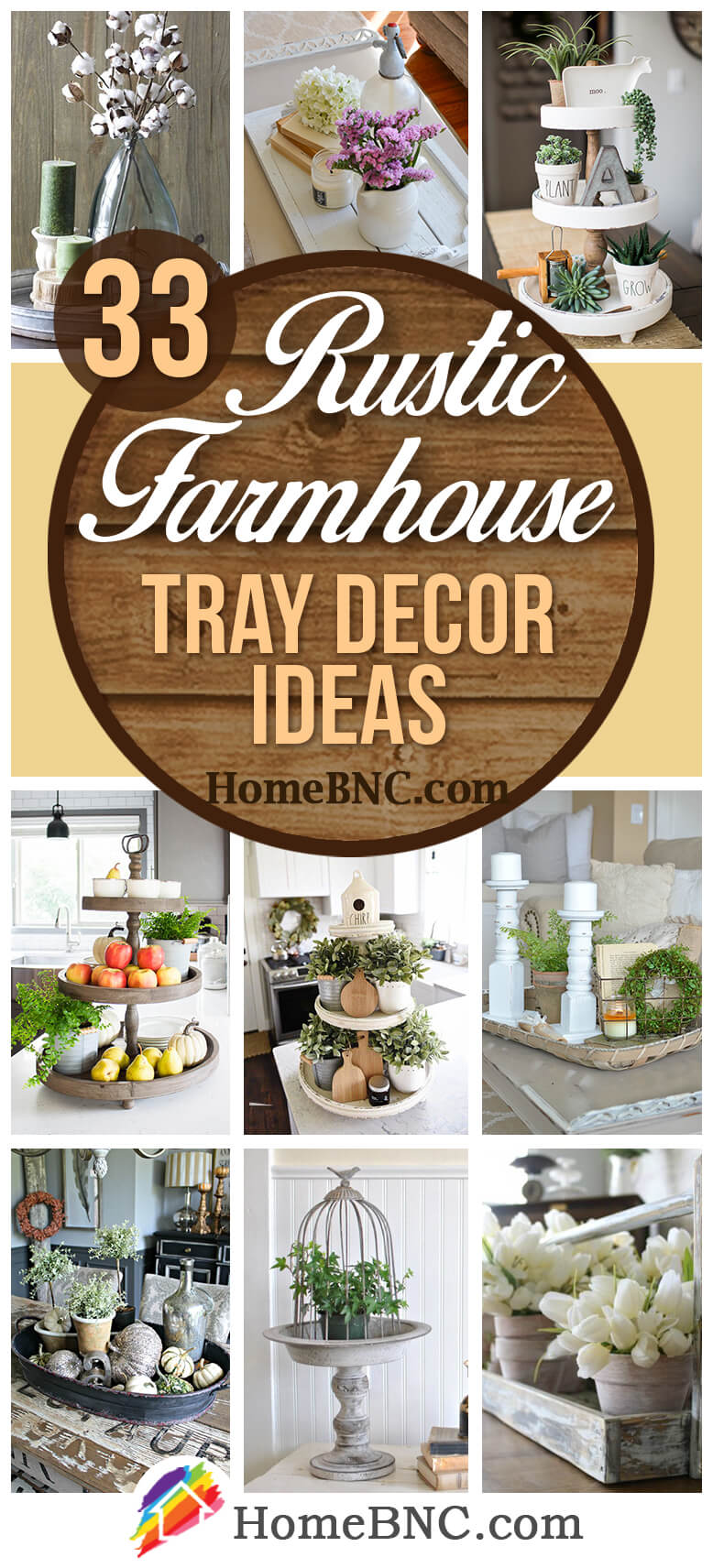 Farmhouse Style Tray Decor Ideas