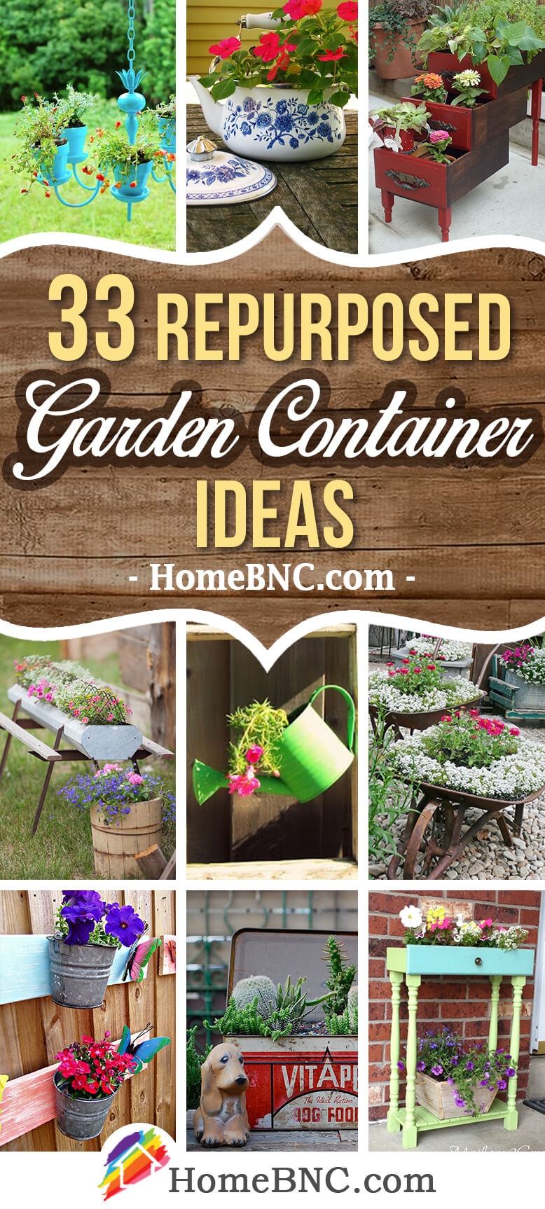 33 Best Repurposed Garden Container Ideas and Designs for 2018