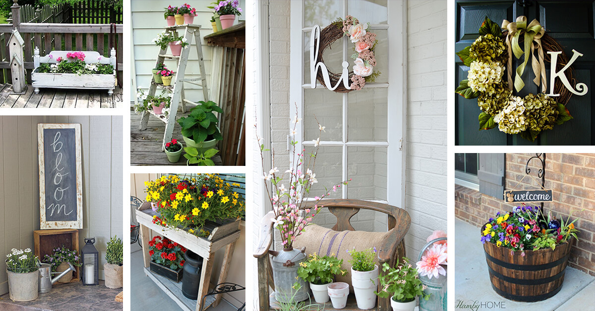 30 Best Rustic Spring Porch Decor Ideas And Designs For 2018