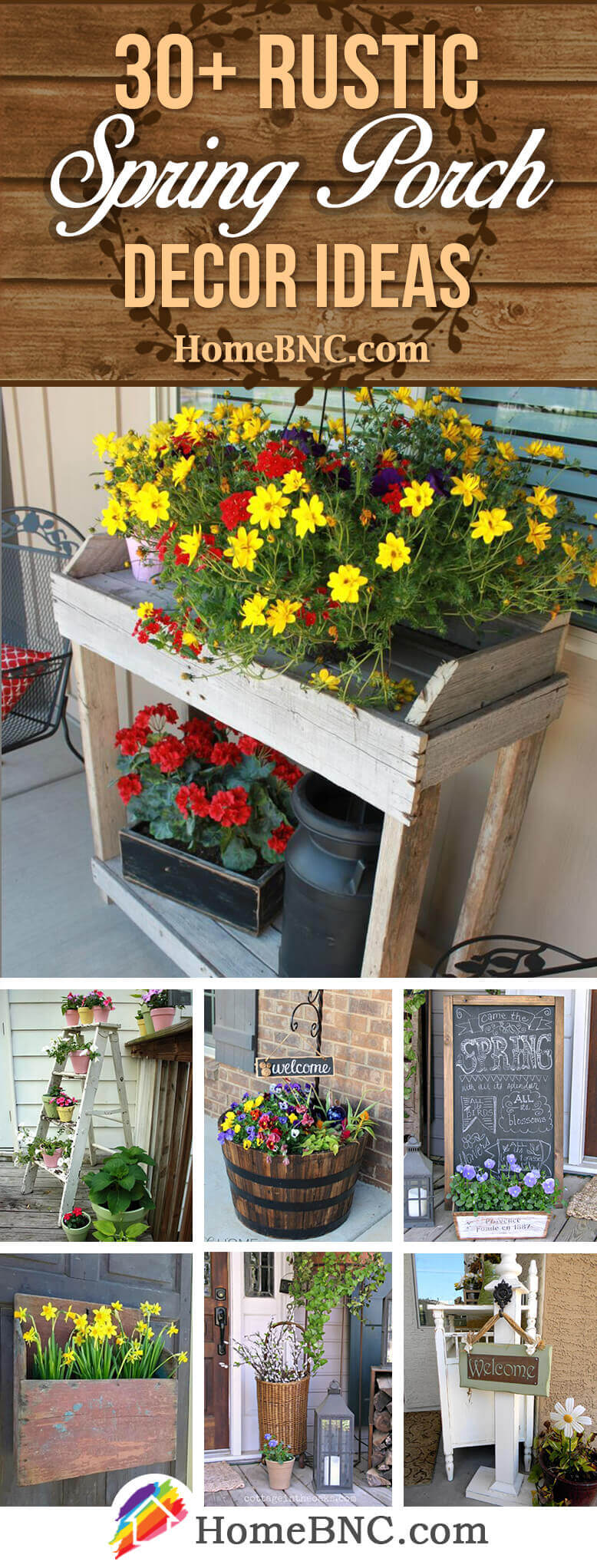 Rustic Spring Porch Decor Ideas