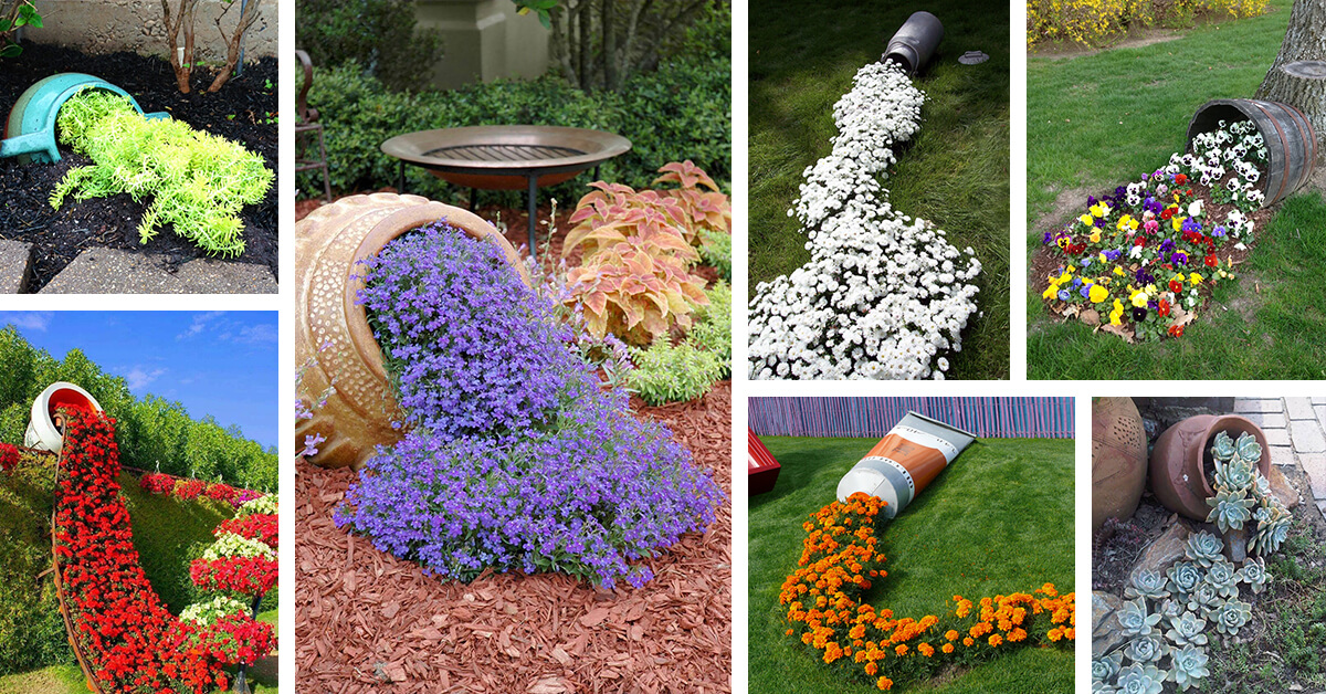 22 Best Spilled Flower Pot Ideas And Designs For 2019