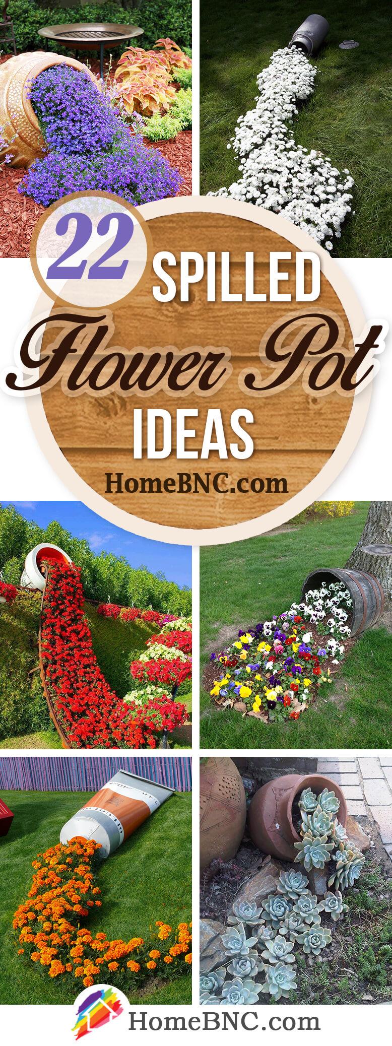 Spilled Flower Pot Ideas