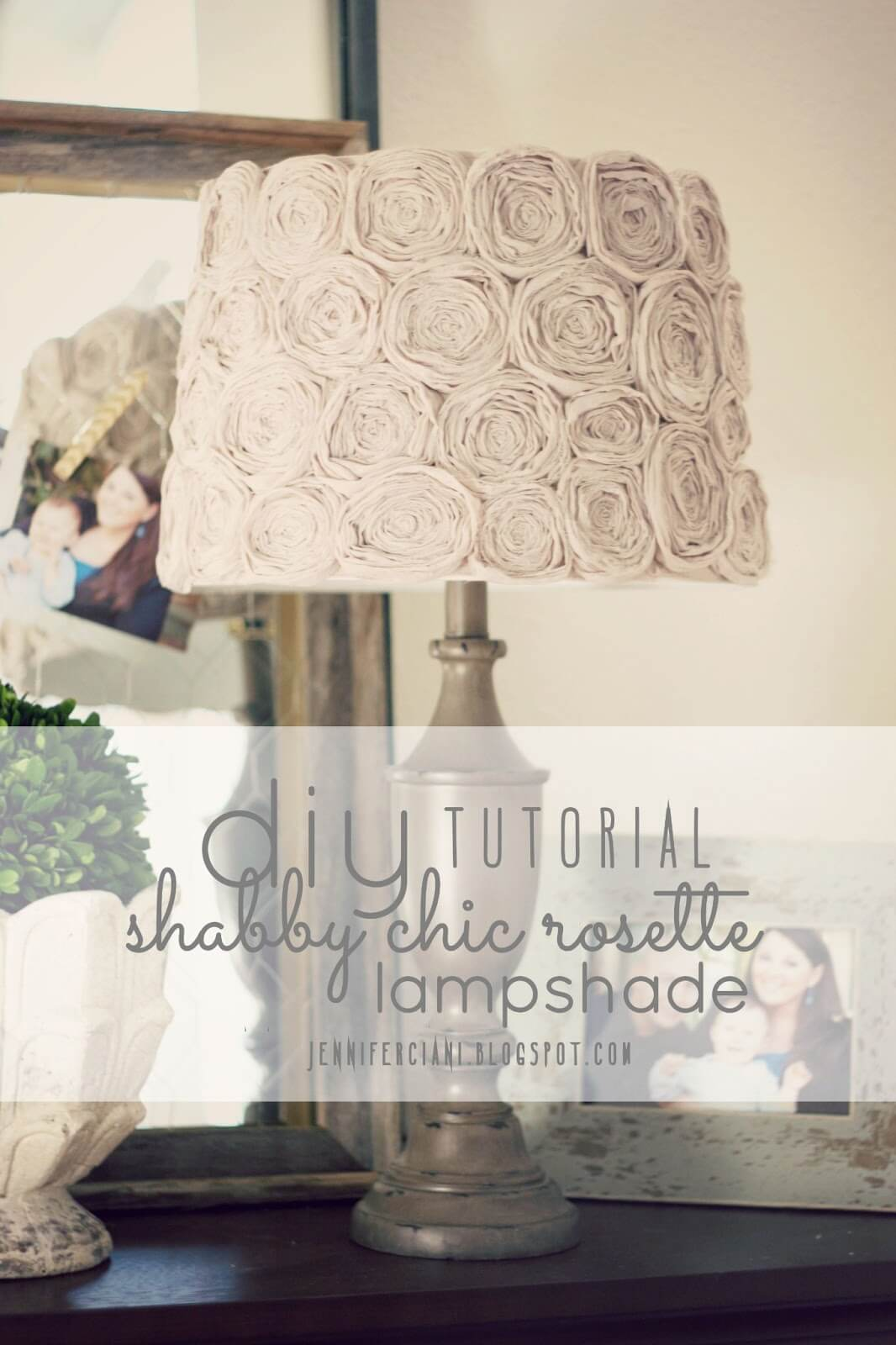 Make Your Own Pretty Rosette Lampshade