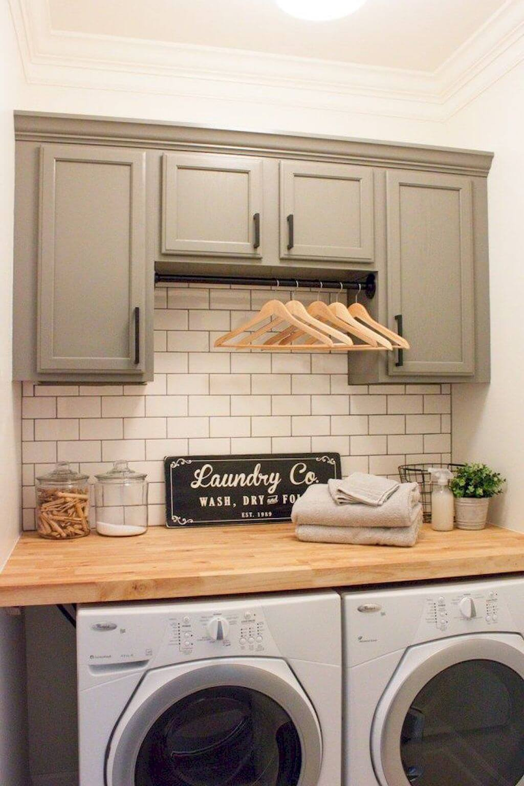 34 best farmhouse laundry room decor ideas and designs for - Laundry room design ideas ...