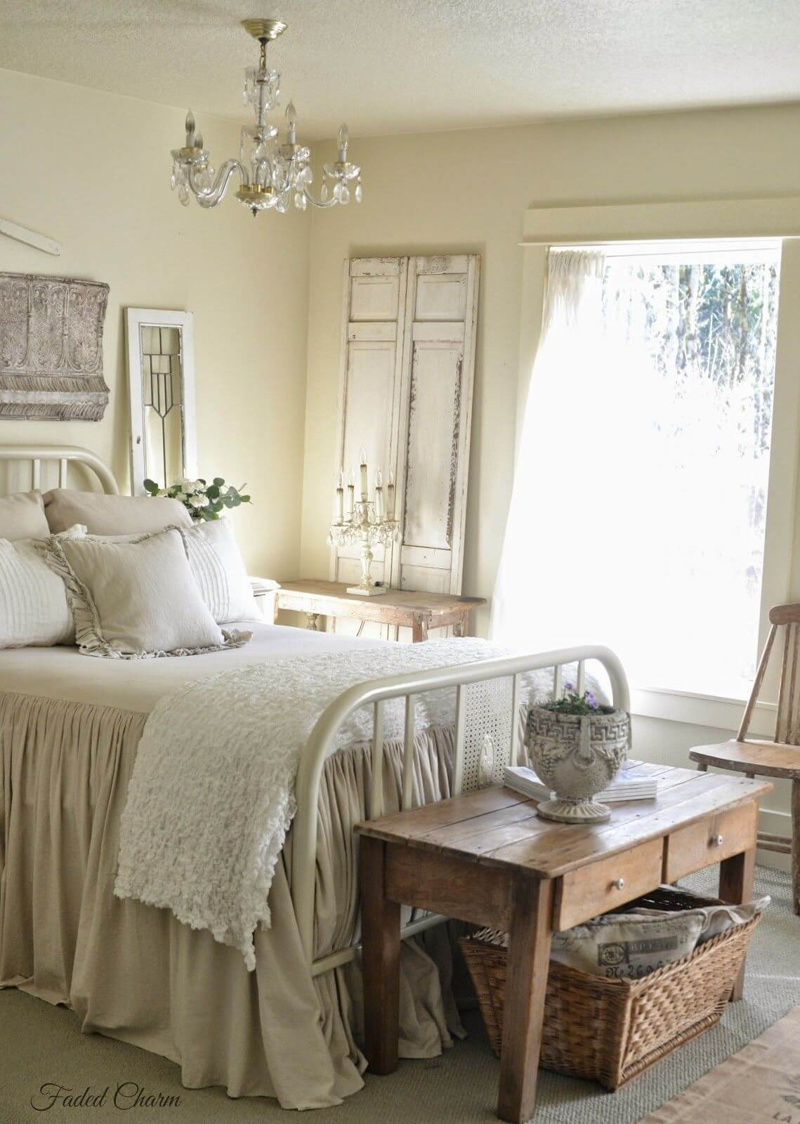 Beige and White Relaxing Bedroom