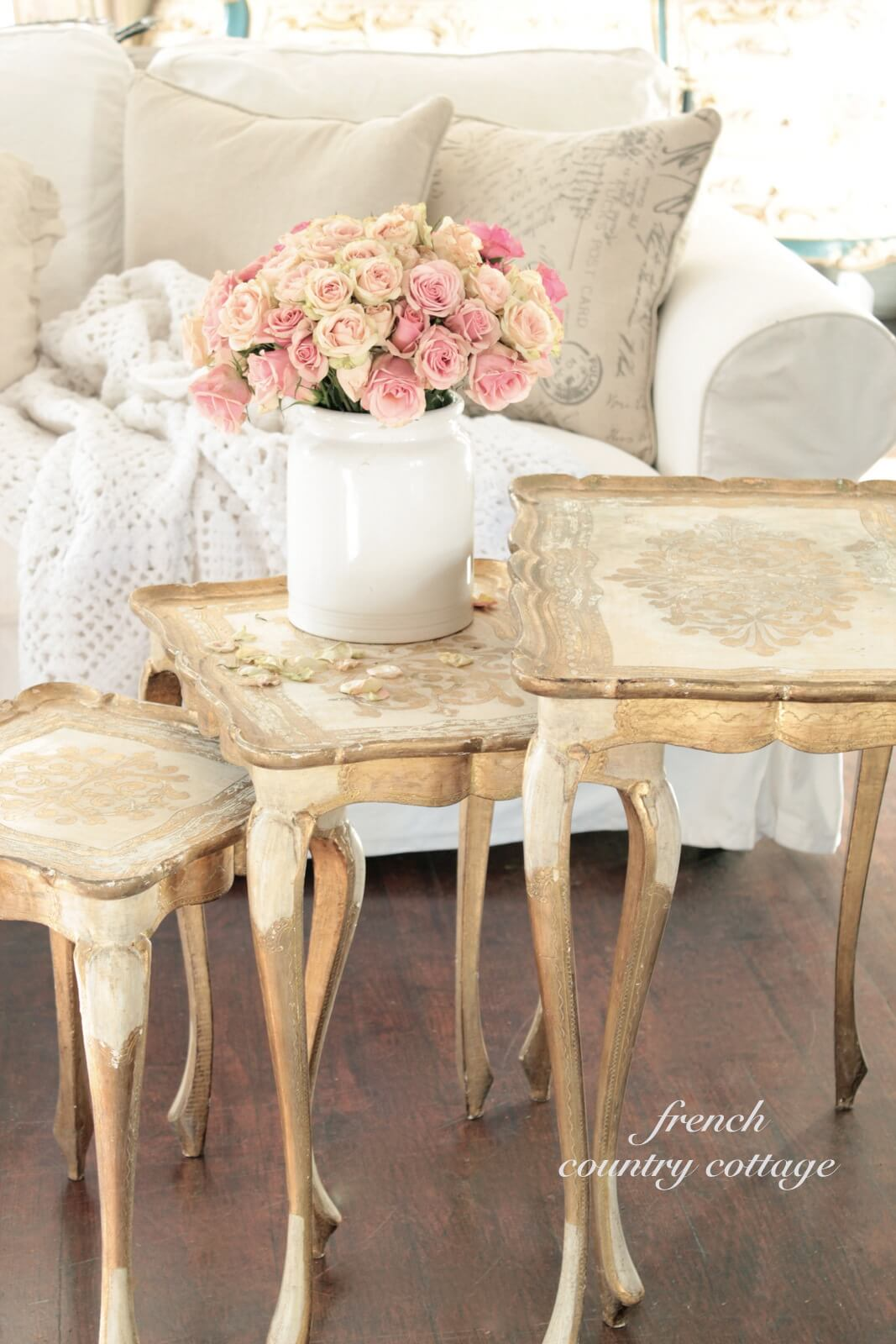 French Country Style Nesting Tables
