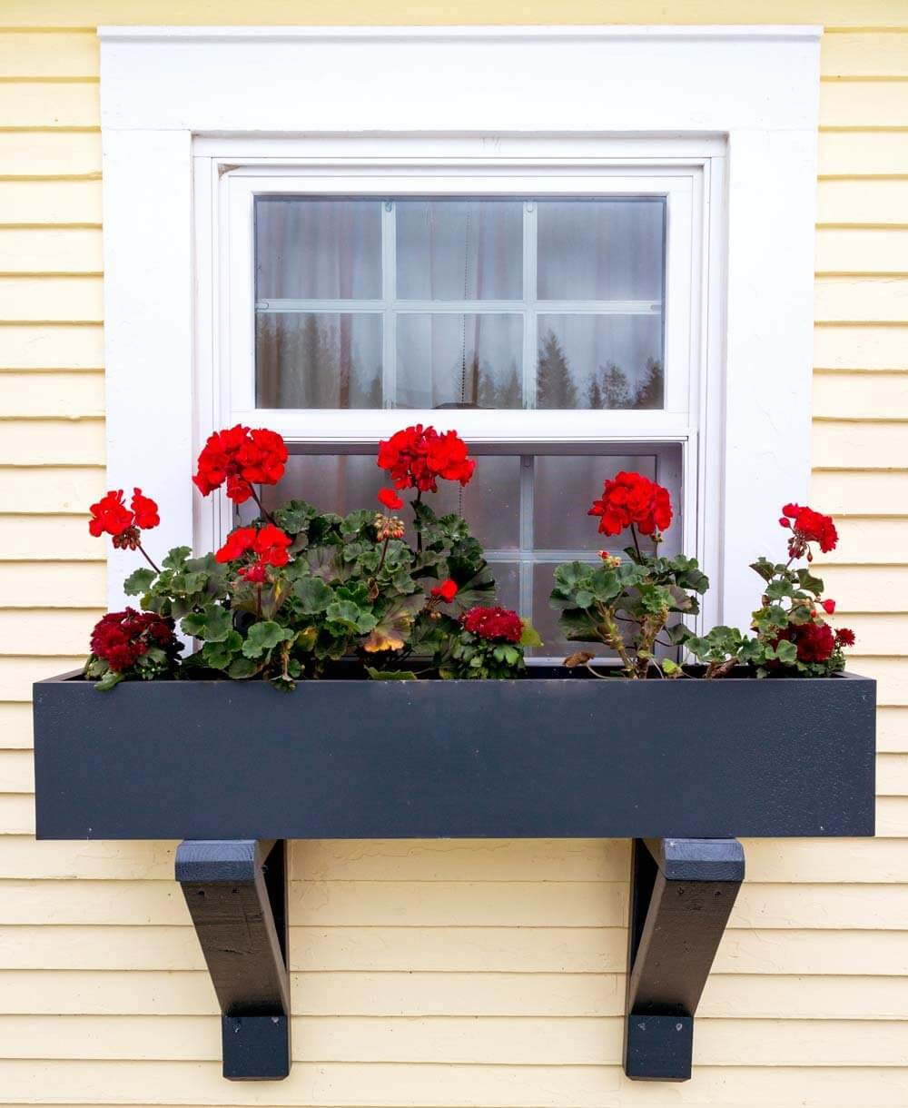 wooden homebnc semigloss best window planter ideas box and for designs black finish with