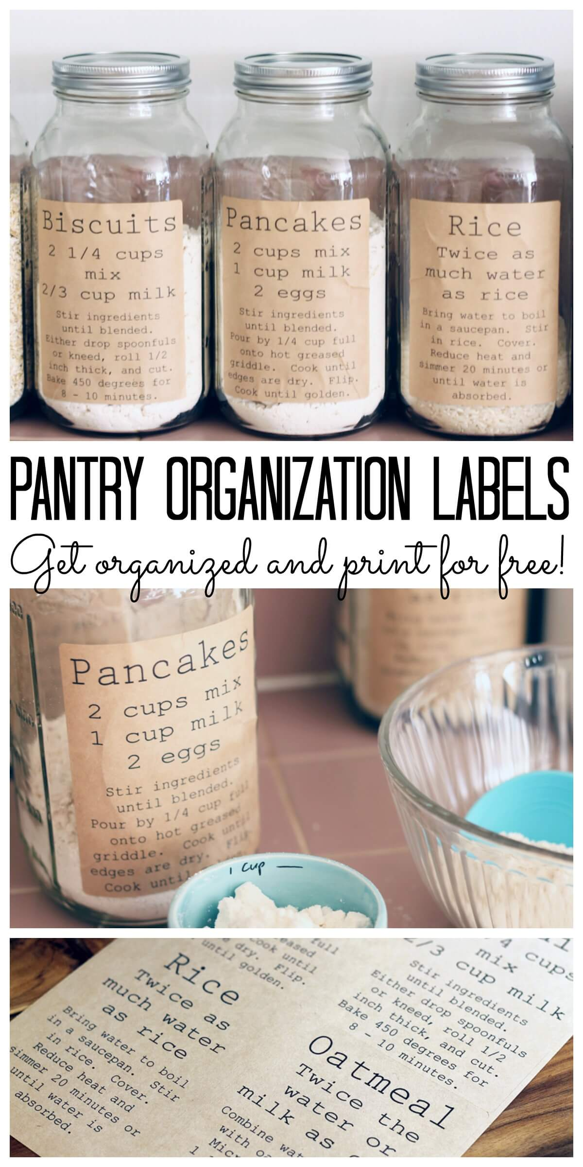 Diy Recipe Labels For Mason Jars