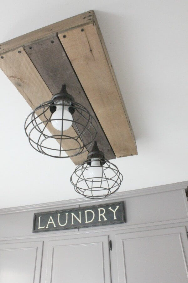 Charming Barn Lighting Fixture for Laundry Room
