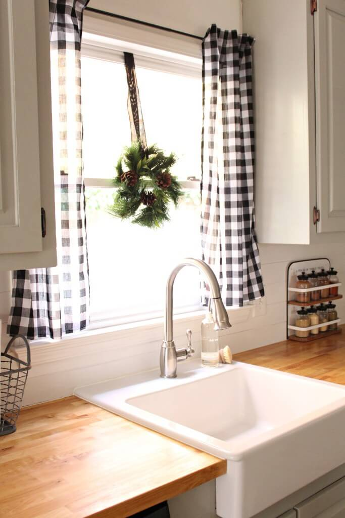 Bold Gingham Curtains at the Window