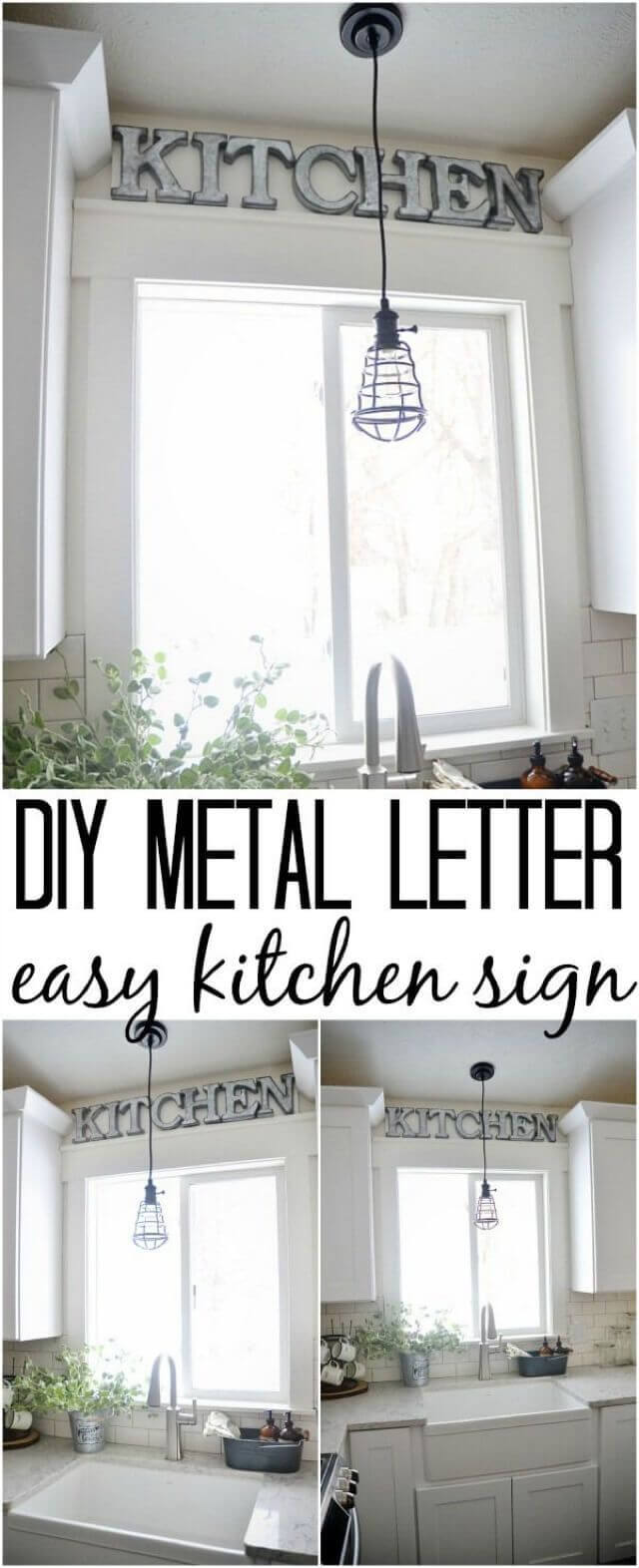Gentil DIY Farmhouse Kitchen Decor Projects With Metal Letters