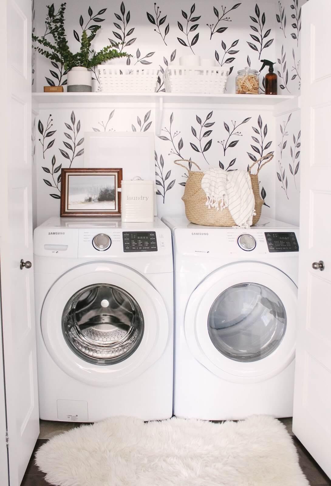 Plant Lady Vibes Cozy Laundry Closet