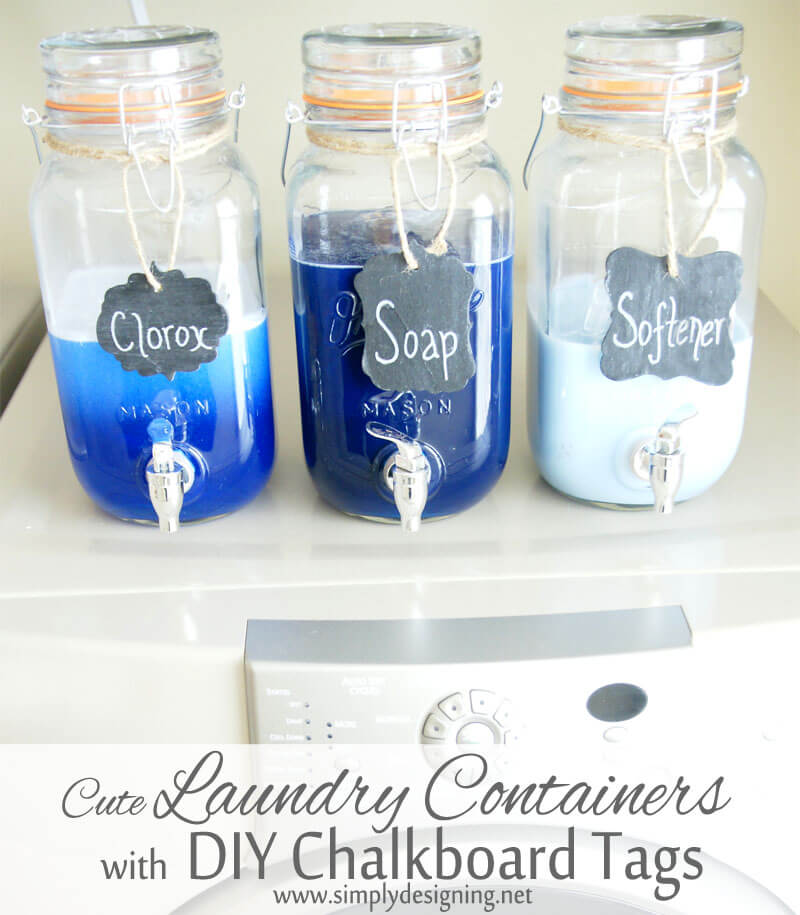 Use Mason Jars to Store Laundry Detergent
