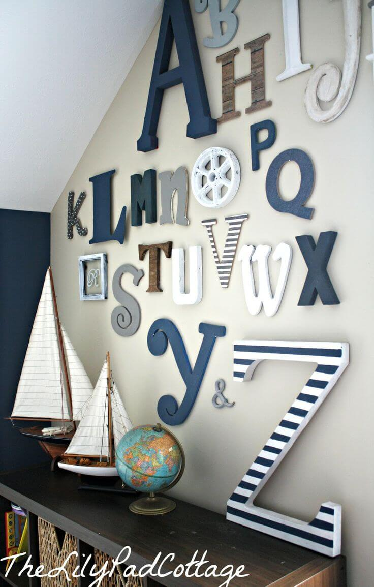 Nautical Themed Alphabet Wall Letters