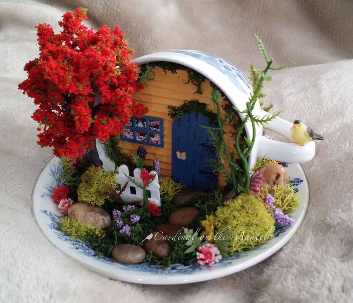 Tiny Flowers and Tree Offset Cozy Cottage
