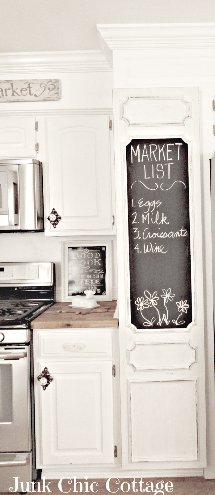 Pantry Door with Oversized Chalkboard