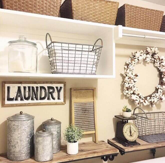 35 Best Rustic Home Decor Ideas And Designs For 2019: 34 Best Farmhouse Laundry Room Decor Ideas And Designs For