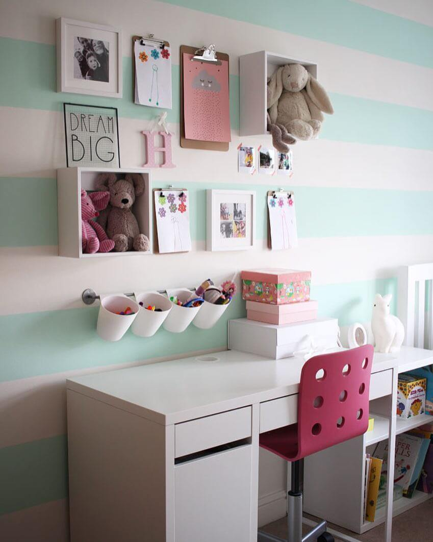 Beautifully Organized Little Girl's Desk