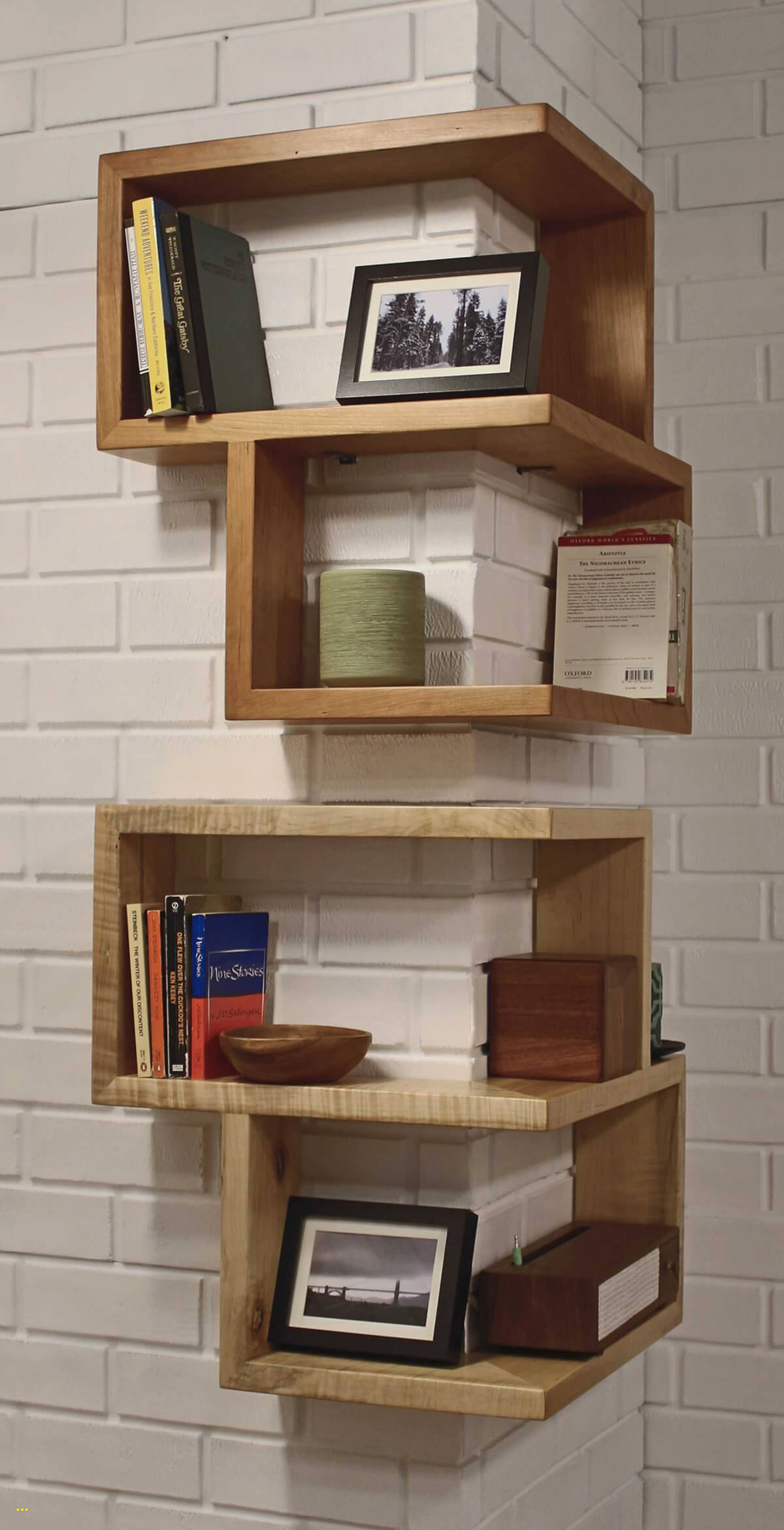 Modern Cube Wall Shelves on a Corner