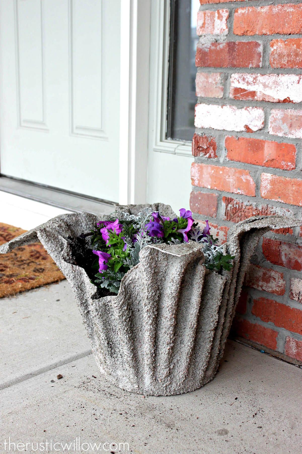 Цветочные вазы из бетона для сада своими руками фото