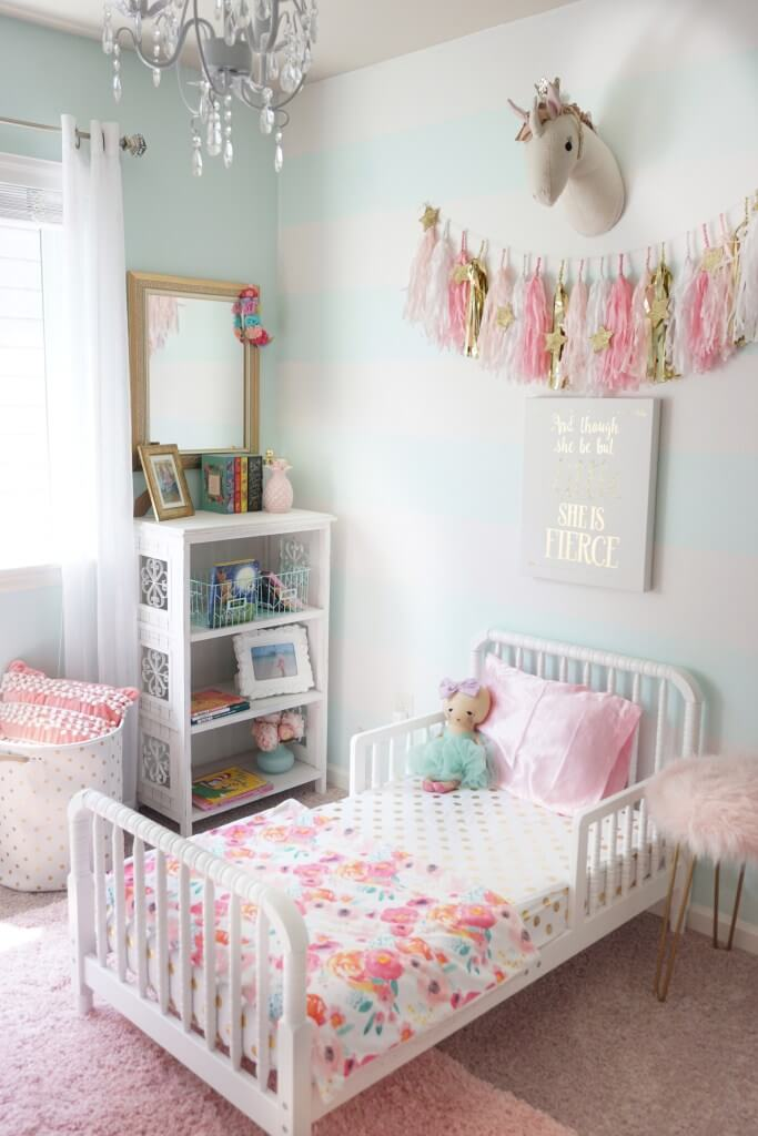 Kid Room Decor Idea with Tutus and Unicorns
