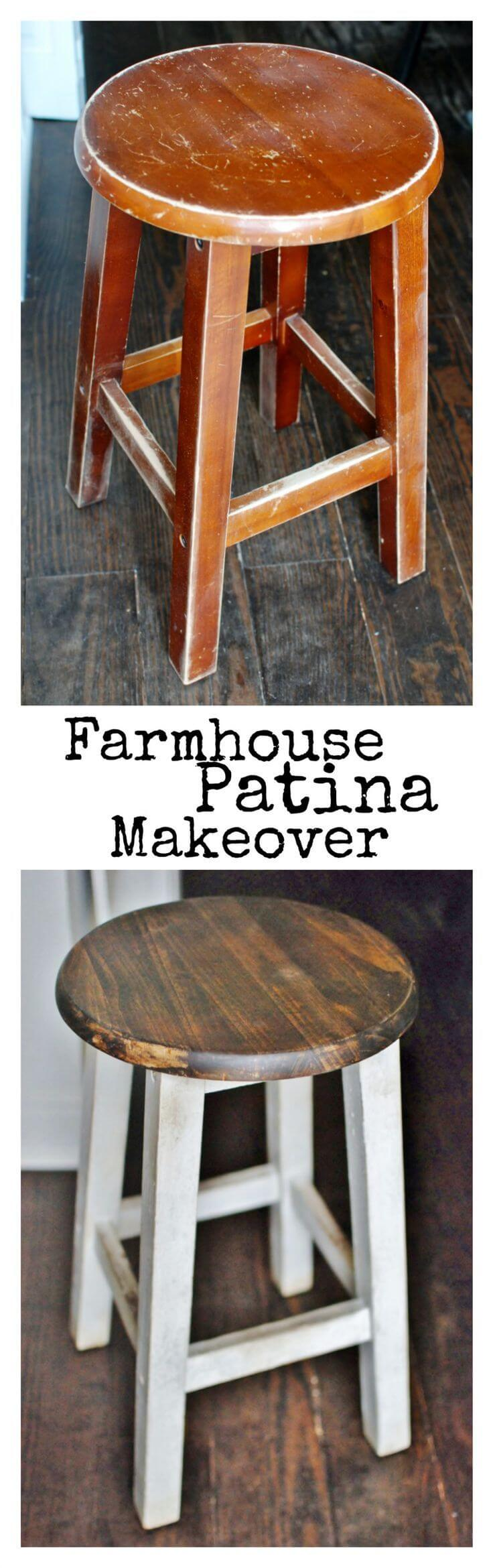 Refinish a Stool with Pretty Patina