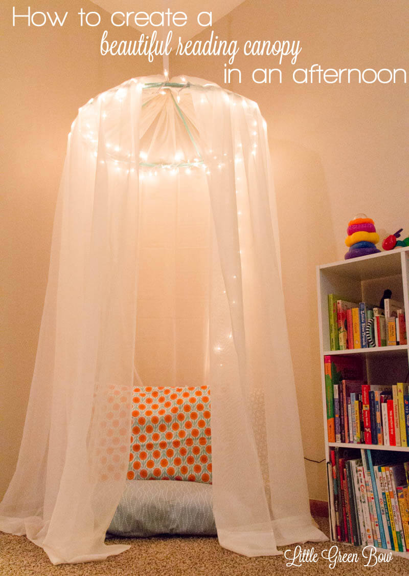 Floating Reading Canopy over a Beanbag
