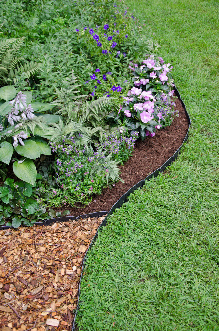 Understated Black Plastic Mulch Edging