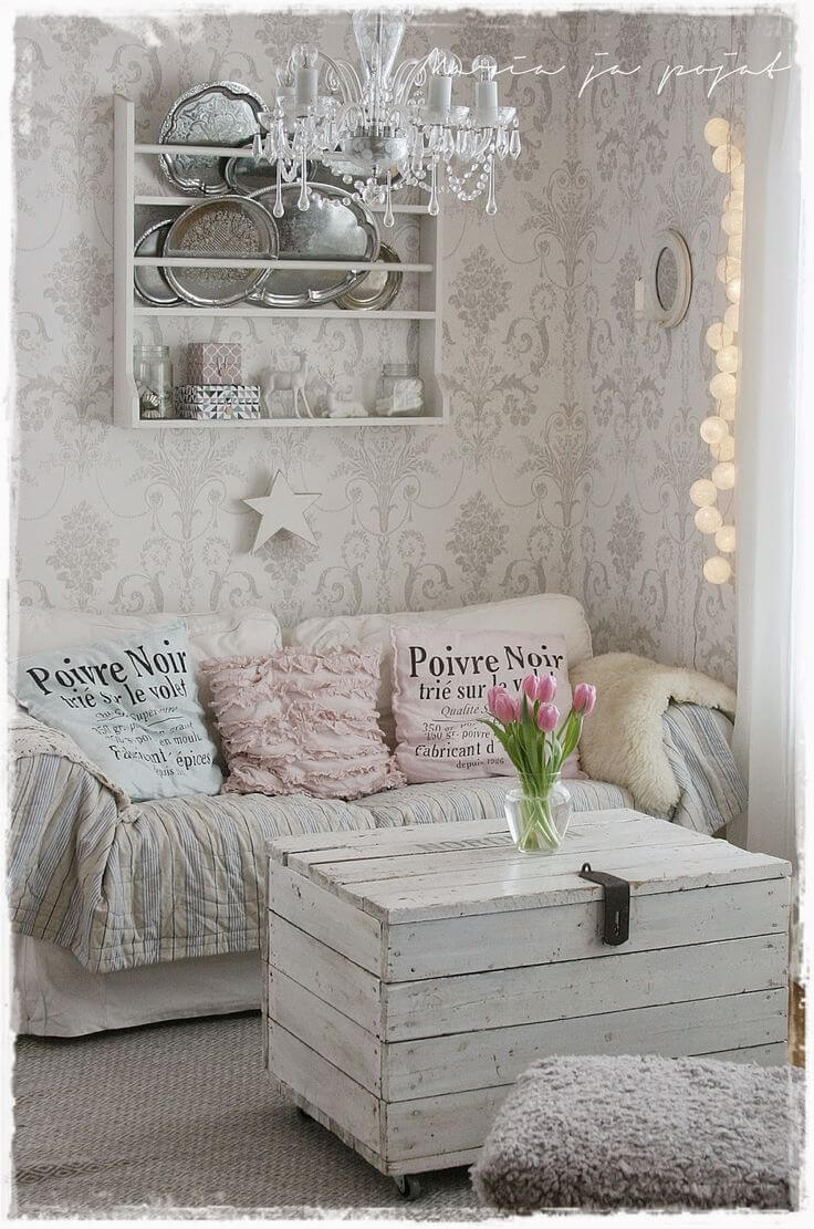 Comfortable Seating Area with Old Silver Accents