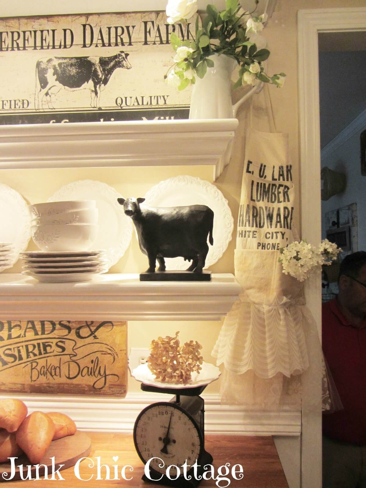 Cute Dairy Themed Corner with an Embellished Apron