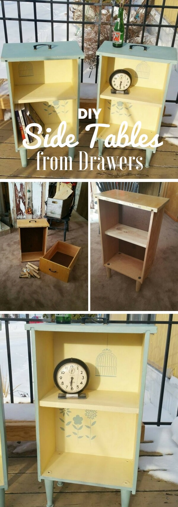 Make Side Tables Out of Old Drawers